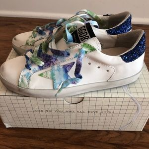 NEW | Golden Goose | Tie-Dye Superstar Sneaker